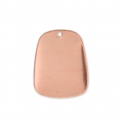 Copper curved pendant base for enamel Powder Efcolor 38x30 mm x1