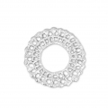 Round zamac spacer with interlaced wire 19 mm Silver Tone x1
