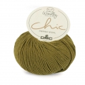 DMC Wooly Chic wool - Olive/Gold (n°085) x 125m