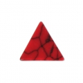 Triangle cabochon imitation Howlite tinted 8.5x8.5 mm Red Corail x5