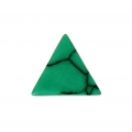 Triangle cabochon imitation Howlite tinted 8.5x8.5 mm Green x5