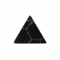 Triangle cabochon imitation Howlite tinted 8.5x8.5 mm Jet x5