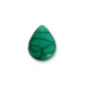 Pear shape cabochon imitation Howlite tinted 8x6mm Green x5