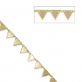 Fancy brass triangular mesh chain 7 mm Gold Tone x50 cm