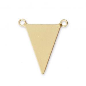 Triangular spacer 2 loops 15.5x13.5 mm satin gold tone x1