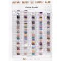 Color chart Miyuki Delica 8/0 (DBL)  - Sample Card (n°848) - New Color