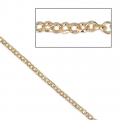 Round closed links chain 1.9 mm Gold Tone x1m