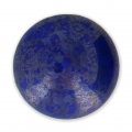 Glass Cabochon by Puca® 18 mm Opaque Sapphire Luster Silver x 1