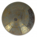 Glass Cabochon by Puca® 25 mm Opaque Grey Bronze x 1