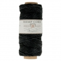 62 meters Bobbin of high quality twisted hemp Cord 1.1 mm Black
