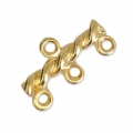 3 strands spacer 20x10 mm Gold Tone x4