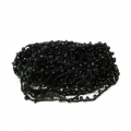 Beaded thread with seed beads 2.4 mm for DIY creations - Black x 3m