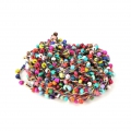 Beaded thread with seed beads 2.4 mm for DIY creations - Multicolored x3m