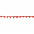 Beaded thread with seed beads 2.4 mm for DIY creations - Red x3m