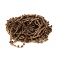 Beaded thread with seed beads 2.4 mm for DIY creations - Brown x3m