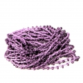 Beaded thread with seed beads 2.4 mm for DIY creations - Violet x3m
