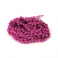 Beaded thread with seed beads 2.4 mm for DIY creations -  Fuchsia x3m