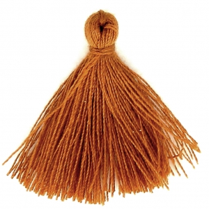 Cotton tassel 27-30 mm Golden Brown x1