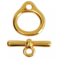 Zamac Toggle clasp 17.5 mm Gold Tone x1