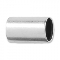 Tube bead with large hole 10x6 mm for 5 mm cord Old Silver Tone x1