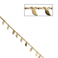 Fancy drop/arrow mesh chain 2.4 mm Gold Tone x50cm