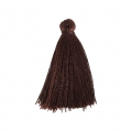 Tassel imitation silk 40 mm Brown