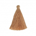 Tassel imitation silk 40 mm Light Brown