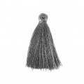 Tassel imitation silk 40 mm Grey