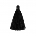 Tassel imitation silk 40 mm Black