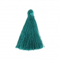 Tassel imitation silk 40 mm Petrol