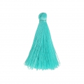Tassel imitation silk 40 mm Aquamarine