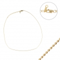14K Gold Filled ball mesh chain 1 mm x 38.1cm