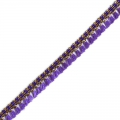 Galon with tassels 10 mm Violet/Gold Tone x1m