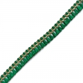Galon with tassels 15 mm Green/Gold Tone x1m