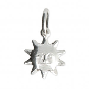 925 Sterling Silver Sun Charm 19x11 mm x1