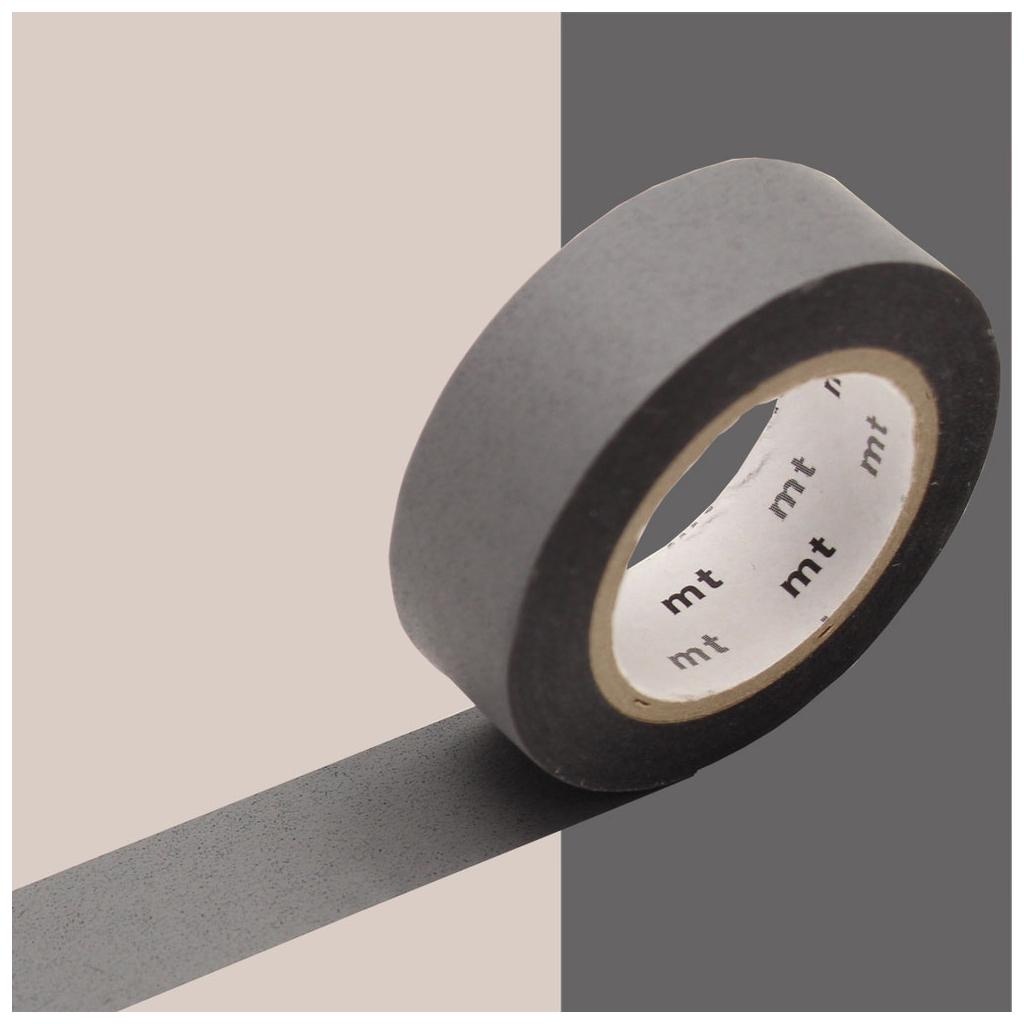 Masking Tape 15 mm - Matte Grey x10m - Masking Tape - Perles & Co
