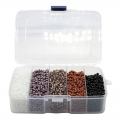 Assortment of seed beads 6/0 - 4 mm 4 effects Opaque/Luster/Ceylon/Silver Lined