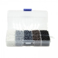 Assortment of seed beads 8/0 -  3 mm 4 effects Opaque/Luster/Ceylon/Silver Lined