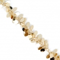 Chain with fancy drop mesh 13 mm Gold Tone x 50 cm