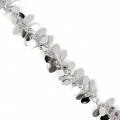 Chain with fancy drop mesh 13 mm Silver Tone x 50 cm