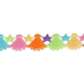 Seashell pattern lace ribbon 30 mm Multicolored x1m