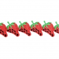 Fruity pattern lace ribbon - Strawberry 40 mm Red x1m