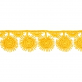 Flower pattern lace ribbon 30 mm Yellow x1m
