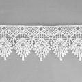 Flower pattern lace ribbon 50 mm White x1m