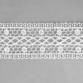 Flower/spiral pattern lace ribbon 50 mm White x1m