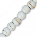Flat round beads imitation Howlite 4x3 mm x20