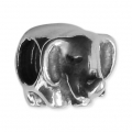 Big hole Elephant bead 8x7 mm Oxidized 925 Sterling Silver x1