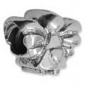 Big hole Angel bead 10x12 mm Oxidized 925 Sterling Silver x1