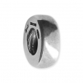 Big hole Rondelle 9x4 mm Oxidized 925 Sterling Silver x1