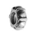 Big hole Rondelle 9x4 mm Oxidized 925 Sterling Silver - Geometric x1